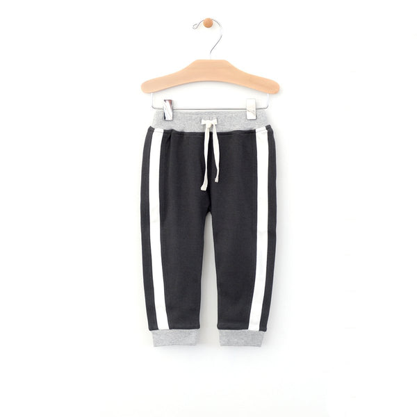 City Mouse Charcoal Side Stripe Joggers