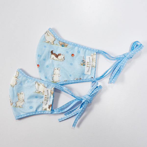 Bud Bunny & Skipit Pup Face Mask - Adult & Kid Sizes