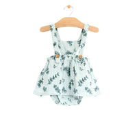 Eucalyptus Muslin Button Pinafore