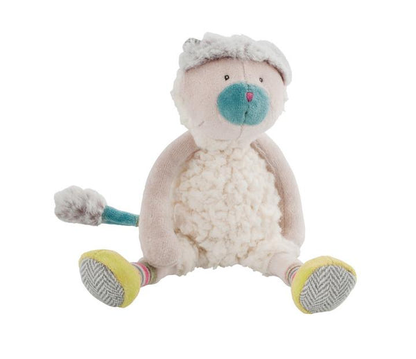 "Les Pachats Mini White Cat 9"" Plush"