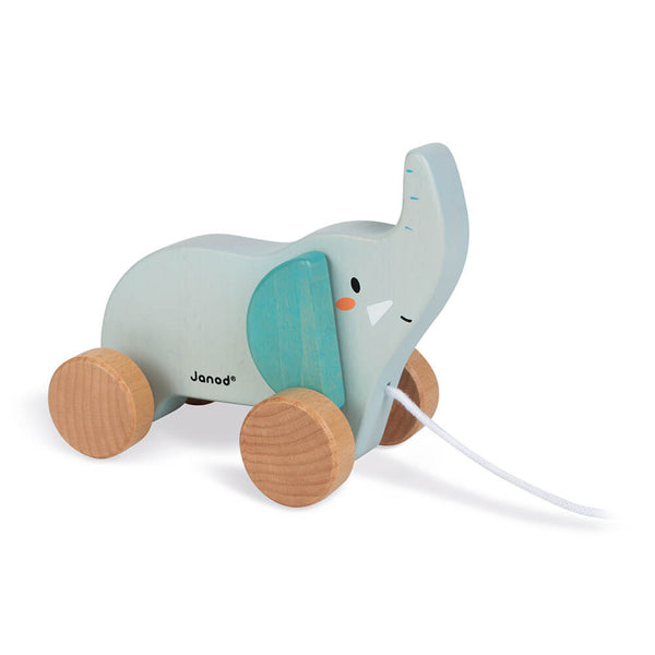 Wooden Pull-Along Elephant