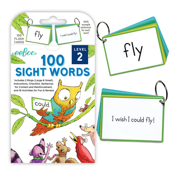 100 Sight Words Flash Cards, Level 2