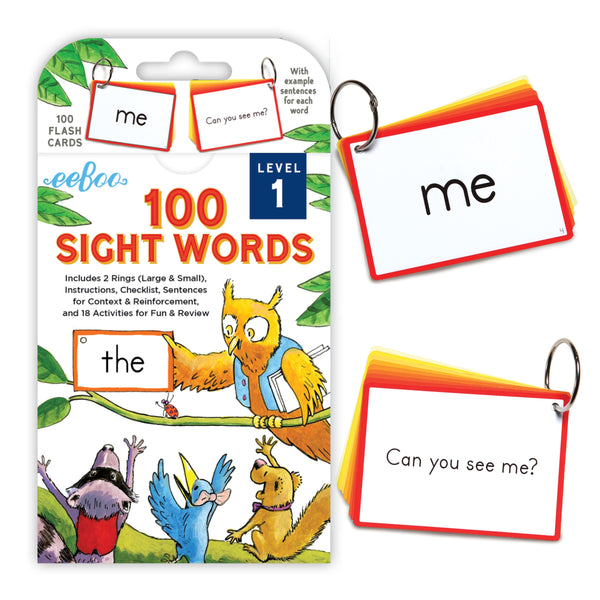 100 Sight Words Flash Cards, Level 1