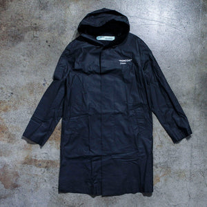 Off White Black Logo Raincoat
