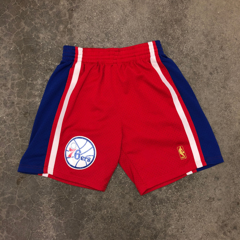Mitchell N Ness Vintage 76'ers Hoop Shorts