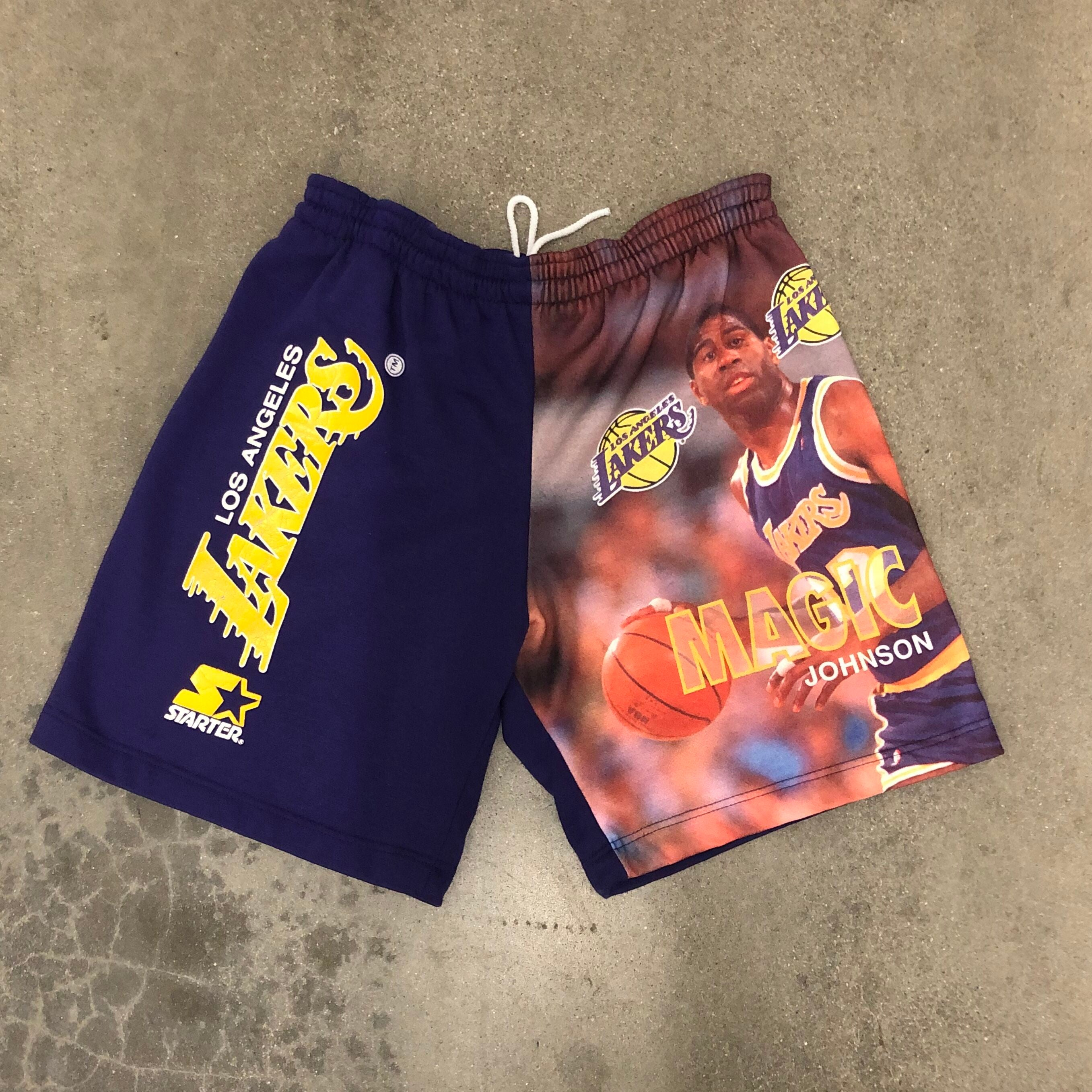 Vintage Starter Magic Johnson Lakers Shorts