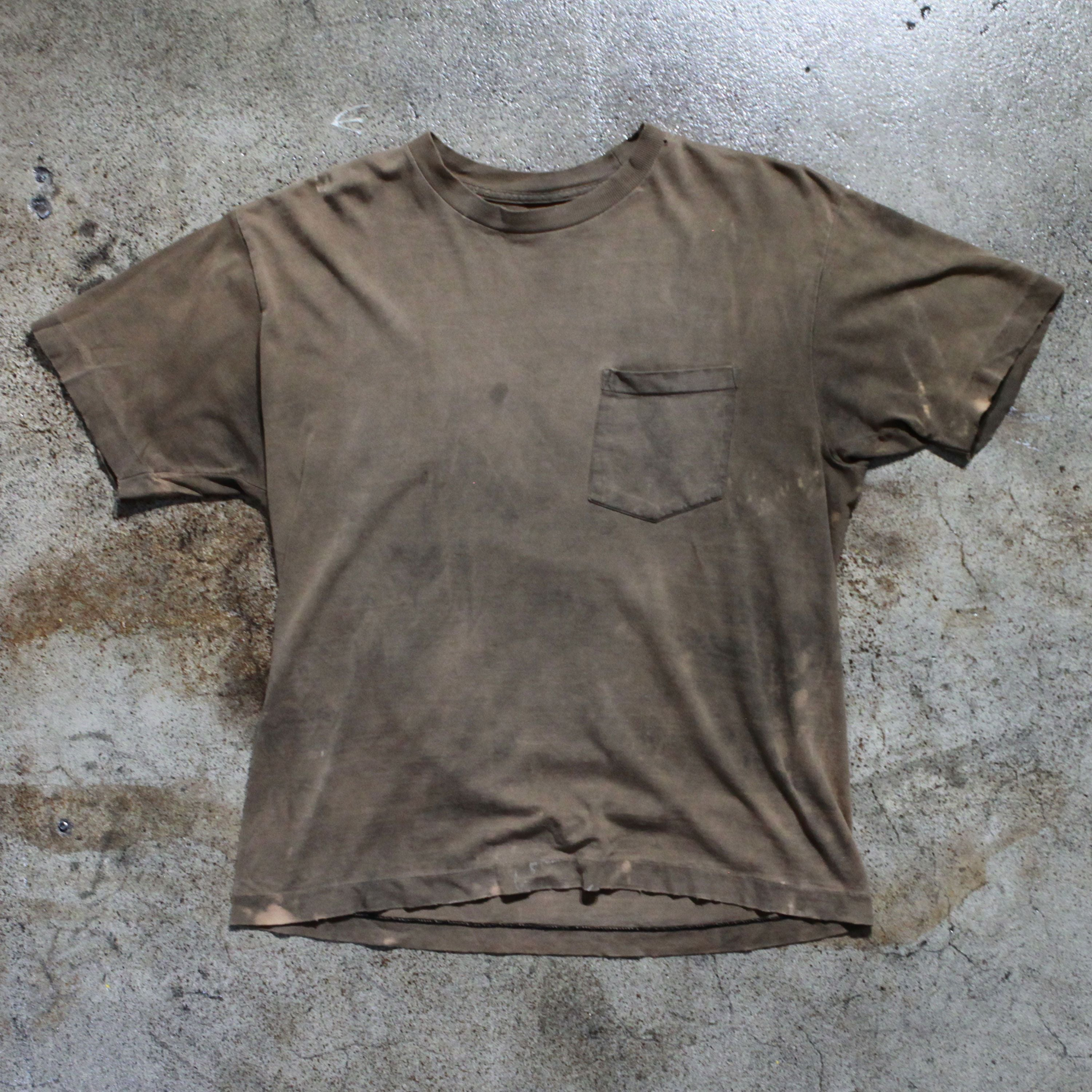 Vintage Bleached Brown T-Shirt