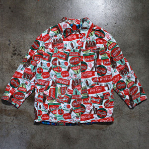 Vintage All Over Print Coco Cola Reversible Jacket