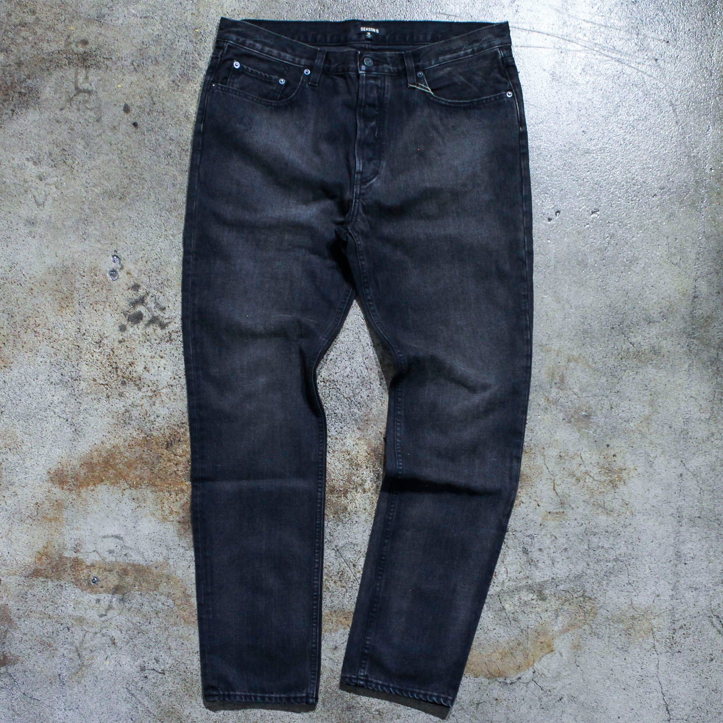 Yeezy Season 6 Washed Black Denim Jeans