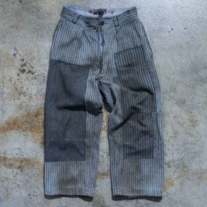 1960's Vintage Striped Patchwork Punk Pants