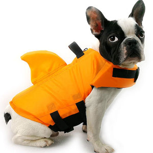 Pet Dog Life Vest Summer Shark Pet Life Clothes Dogs Jacket Dog Safety Swimwear Pets Safety Swimming Suit Dogs Vest Clothes