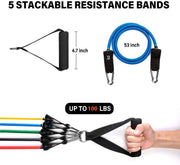 360 Resistance Band Set - 11 in 1 Home Gym