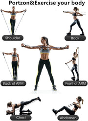 22 PC Resistance Band Set - (200lbs Resistance)
