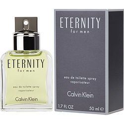 ETERNITY eau de toilette SPRAY 1.6 OZ for MEN, Recommended use DAYTIME
