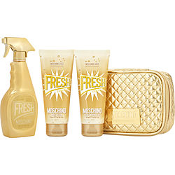 MOSCHINO GOLD FRESH COUTURE EAU DE PARFUM SPRAY 3.4 OZ & BODY LOTION 3.4 OZ & SHOWER GEL 3.4 OZ & POUCH for WOMEN, Recommended use