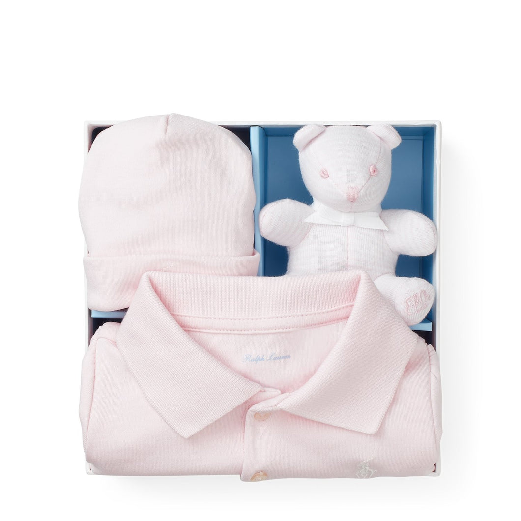 RALPH LAUREN BABY GIRLS GIFT SET