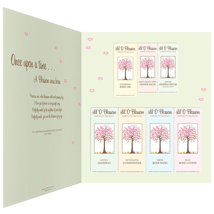 "SHOWER ME BLOSSOM- ""The Gift Plan""- 7 Piece Gift Set"