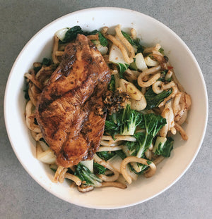 Stir-fry Chicken Udon with XO XO Sauce !