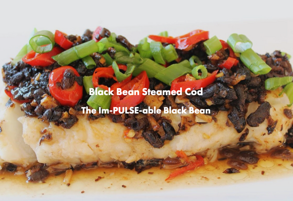 Steamed Cod with Black Bean Sauce & Peppers