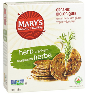 Snacks: Mary's Organic Crackers - Herb