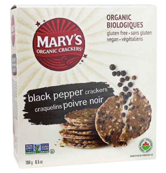Snacks: Mary's Organic Crackers - Black Pepper