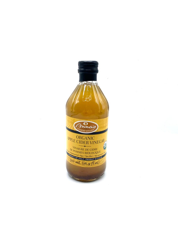 Vinegar: Anna's Country Kitchen Apple Cider Vinegar 500mL