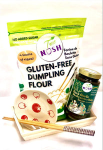 Gift Bundle: Dumpling night Basket - Sauce & Flour & Chopstick & Ramekin