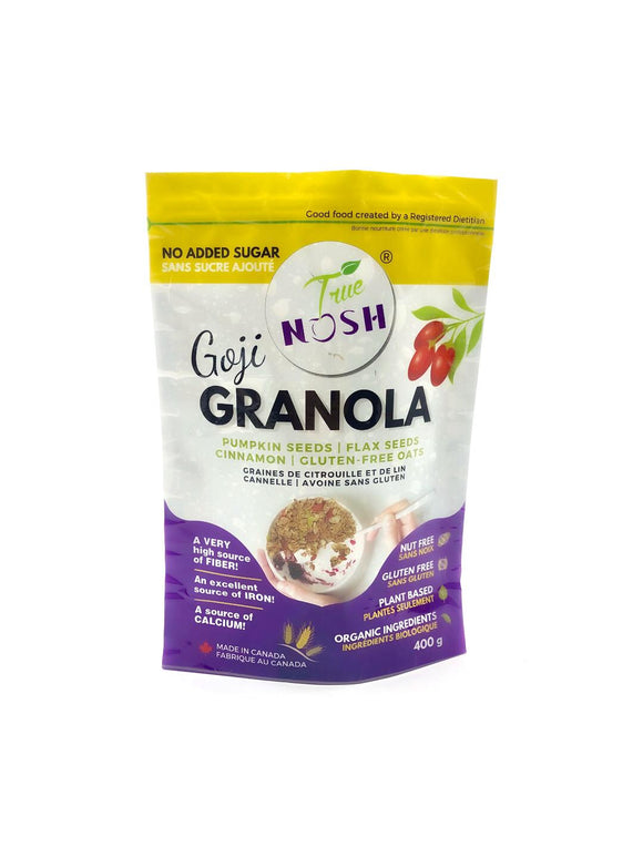 Goji Granola: Gluten-Free Oats, Goji Berry with Pumpkin Seeds, Flax Seeds & Cinnamon - True NOSH