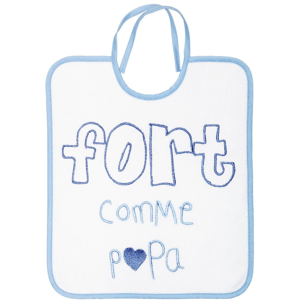 Bavoir fort comme papa - 6 mois - Babycalin