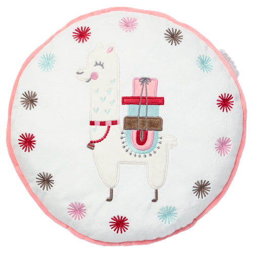 Coussin rond Little Lama - 31 cm - Little-Band.fr