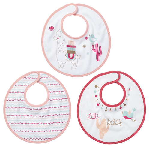 Lot de 3 bavoirs naissance Little Lama - Little-Band.fr