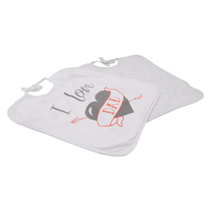 Lot de 2 bavoirs I love Dad - 6 mois Babycalin - BB Malin