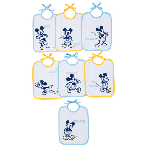 Lot de 7 bavoirs naissance Disney Classic Mickey Disney Baby - BB Malin