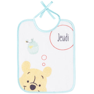 Lot de 7 bavoirs semainiers Disney Winnie Hello Funshine - Naissance