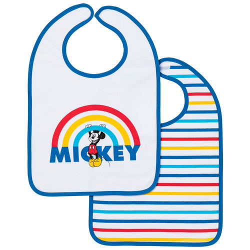 Lot de 2 bavoirs 1er âge Disney Mickey Rainbow 6+ Disney Baby - BB Malin