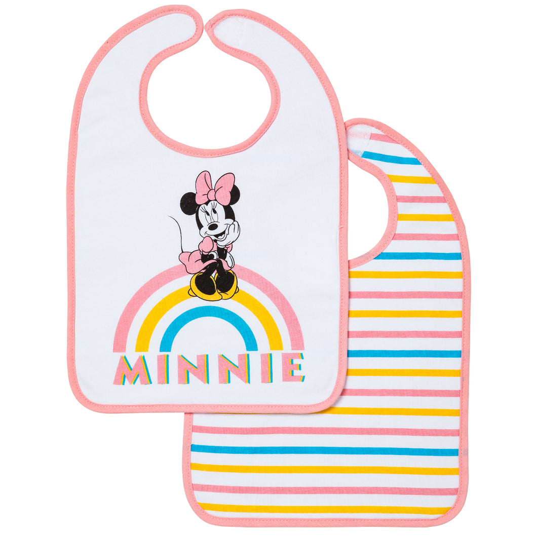 Lot de 2 bavoirs 1er âge Disney Minnie Rainbow - 6+