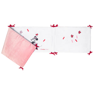 Tour de lit adaptable en velours Minnie Confettis - 40x180 cm