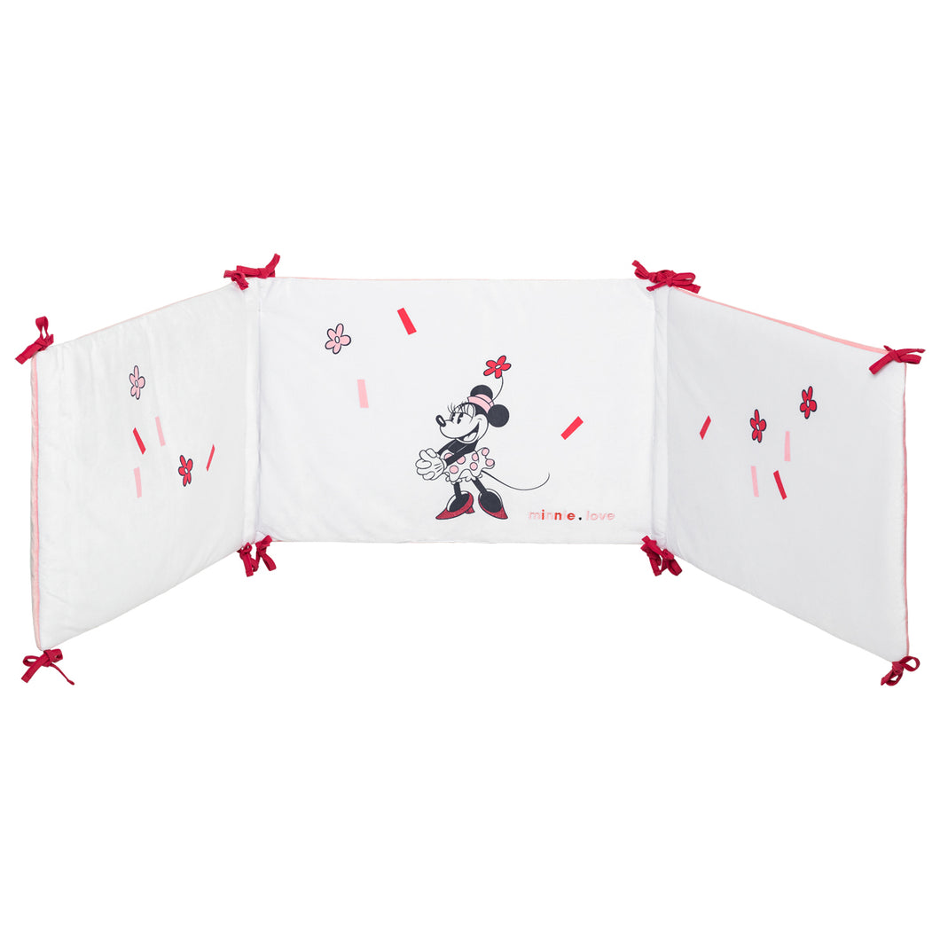Tour de lit adaptable en velours Minnie Confettis - 40x180 cm Disney Baby - BB Malin