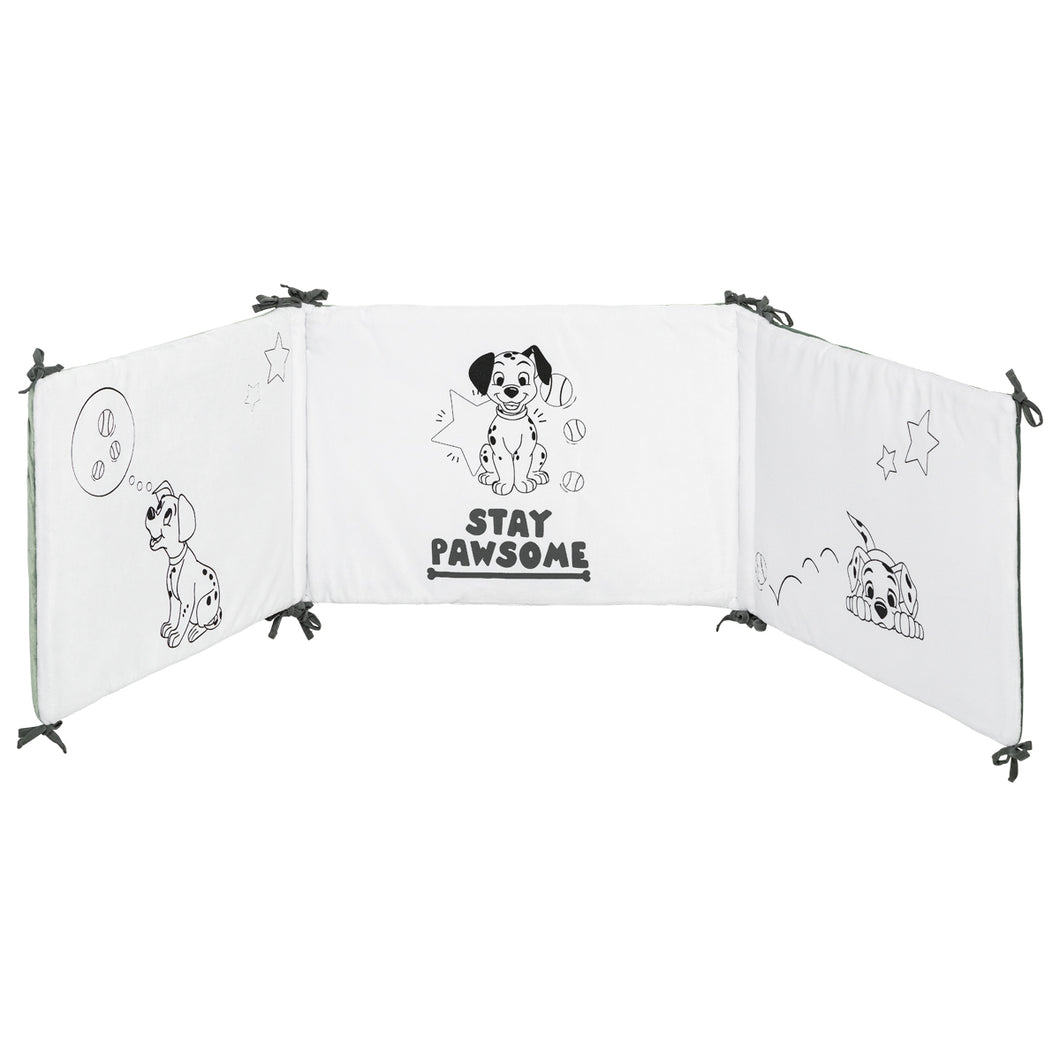 Tour de lit adaptable en velours 101 Dalmatiens - 40x180 cm