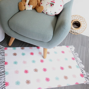 Tapis en toile Little Lama 60x90 cm