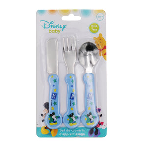 Lot de 3 couverts Disney Mickey Bloom en métal