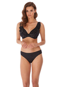 Jewel Cove Bikini Brief (Black & Amber)