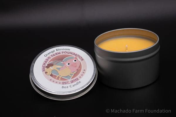 Orange Blossom Tin Candle