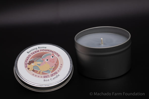 Burning Rome Tin Candle