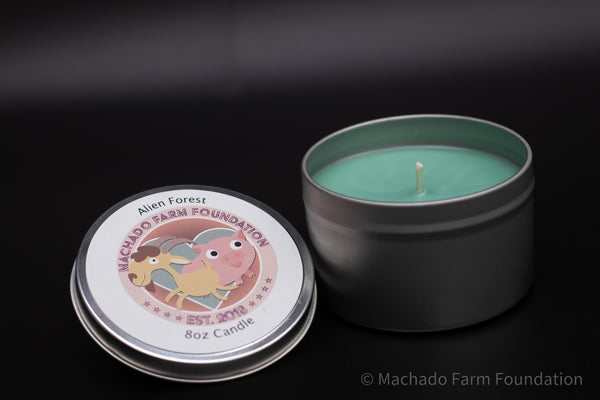 Alien Forest Tin Candle