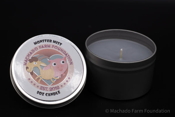 Monster Mist Tin Candle