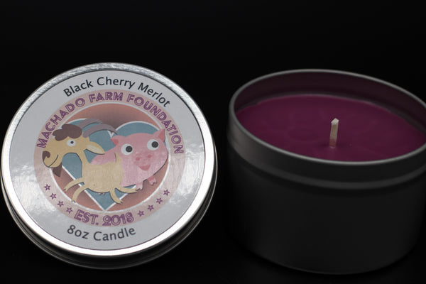 Black Cherry Merlot Tin Candle