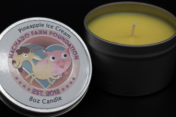 Pineapple Ice Cream Tin Candle