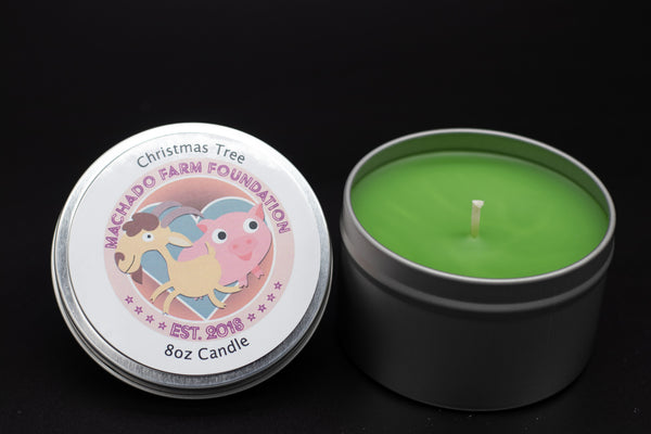 Christmas Tree Tin Candle
