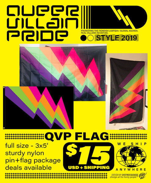 Queer Villain Pride Flags
